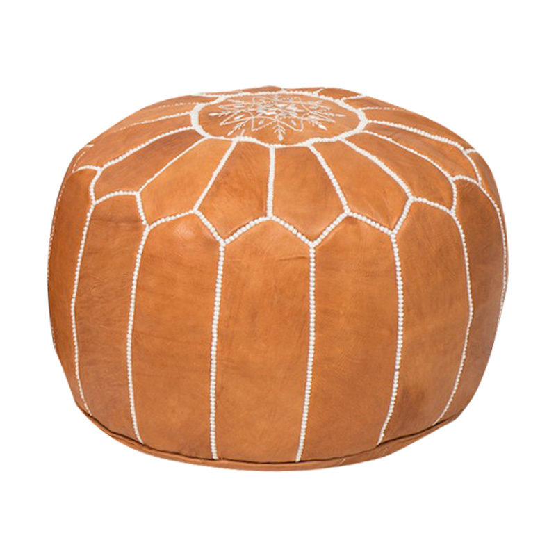 Mara Leather Poufs