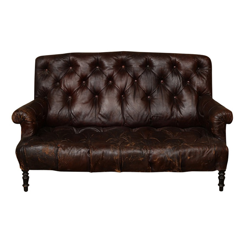 Eberson Leather Settee