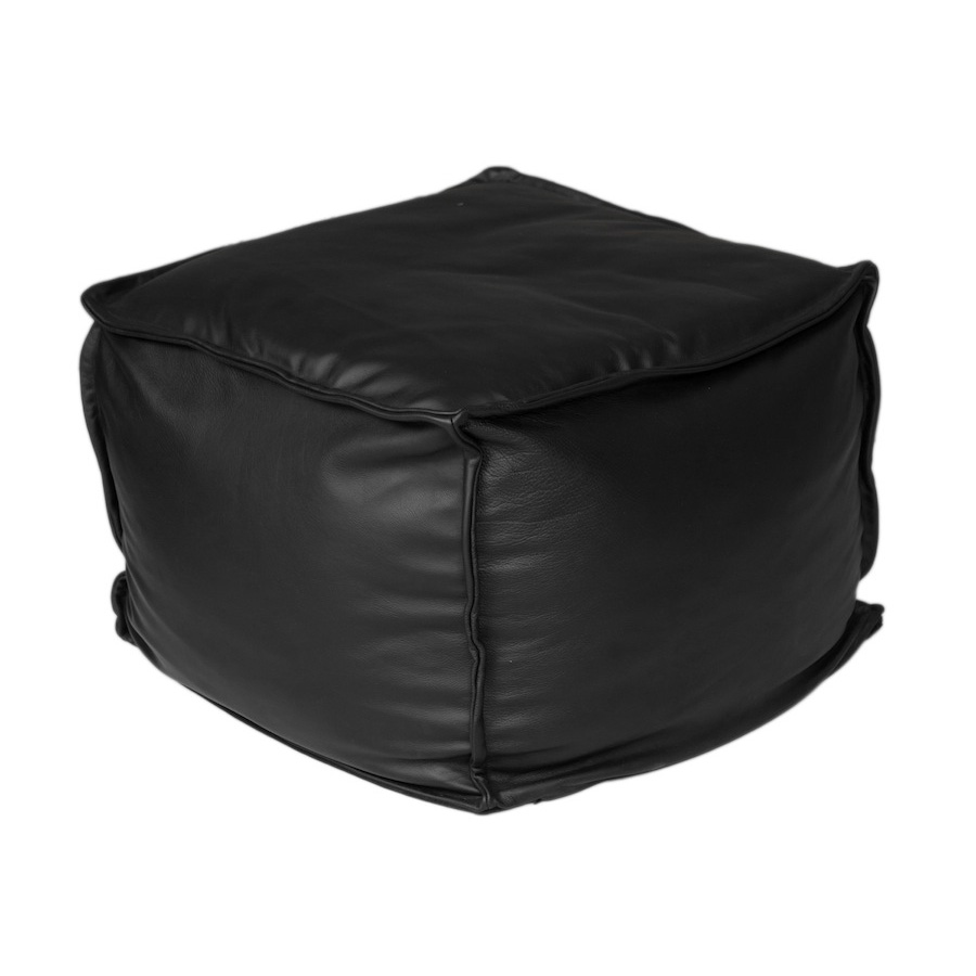 Apres Black Leather Cushions