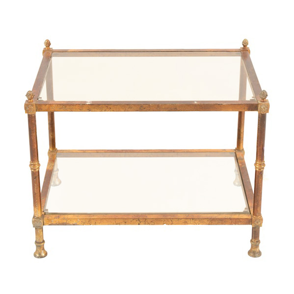 Brigetta Brass Side Table