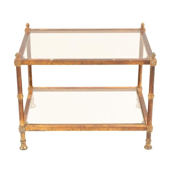Brigetta Brass Side Table