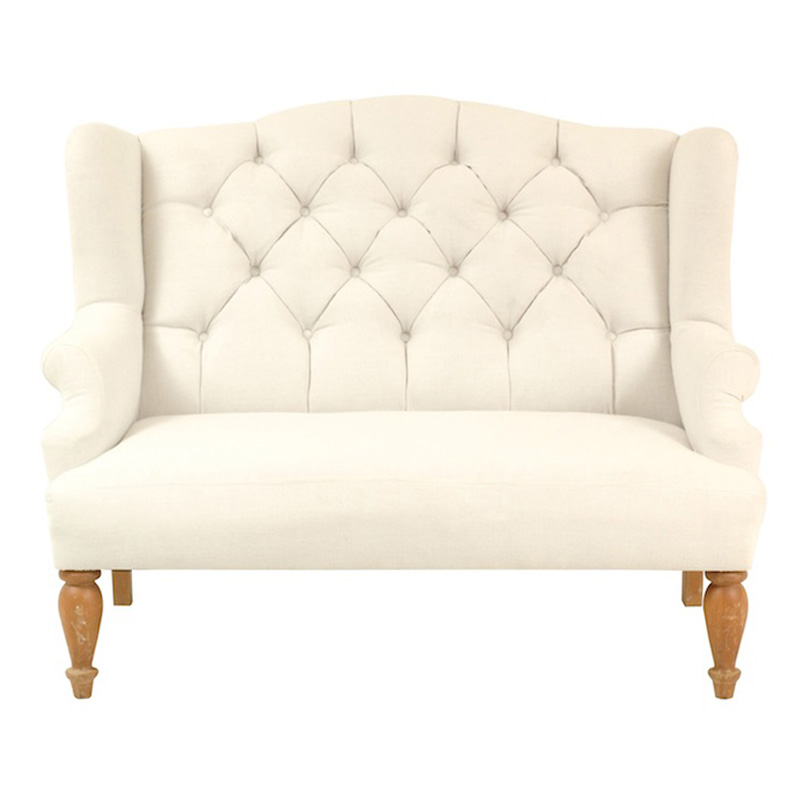 Lacey Cream Settee