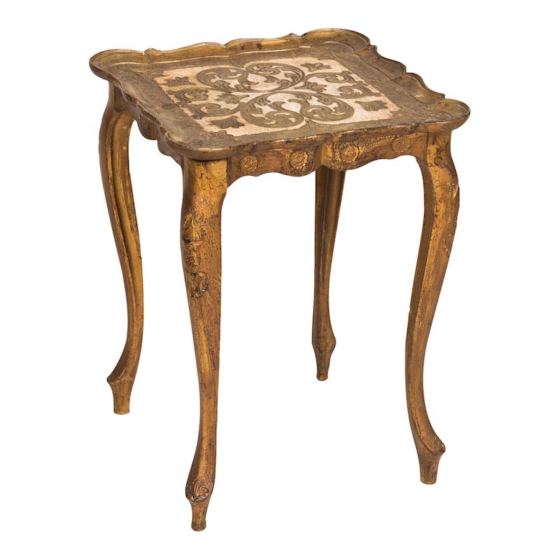 Valentina Gold Nesting Table