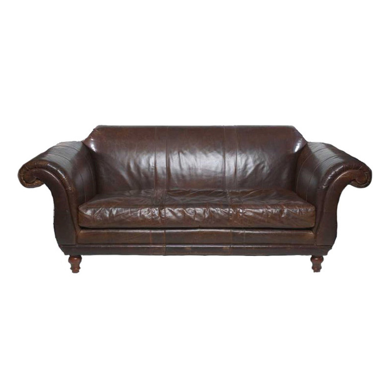 Watson Brown Leather Couch