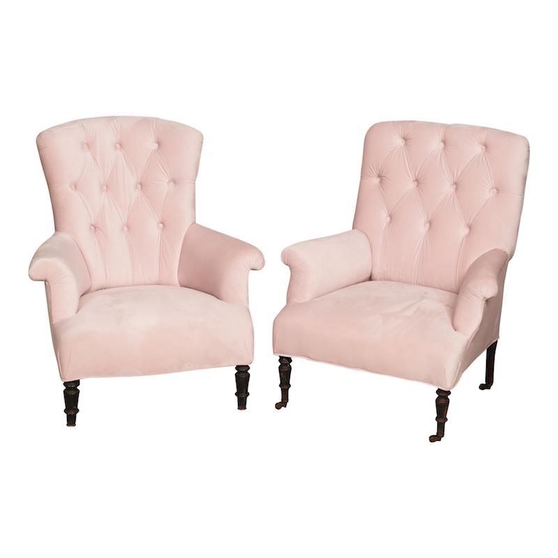 Bisque Blush Armchairs Found Vintage Rentals