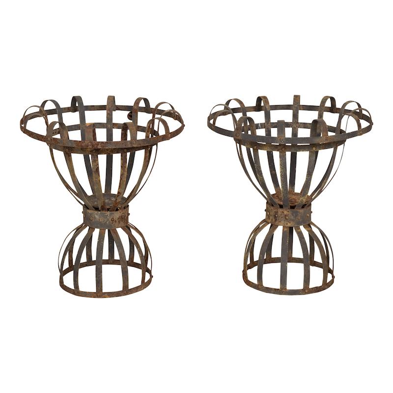 Campton Metal Urns (pair)
