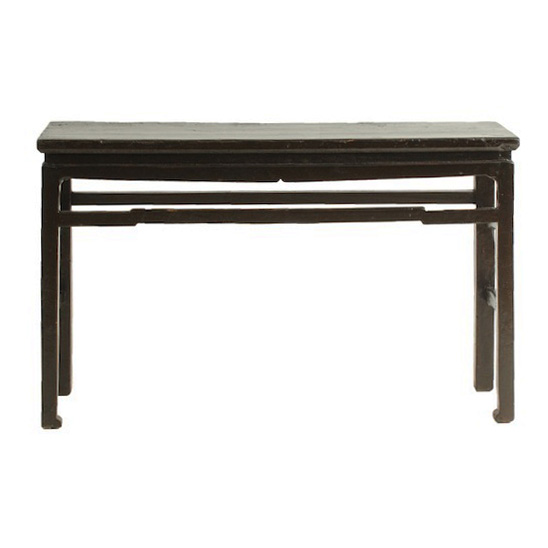 Gia Black Console Table