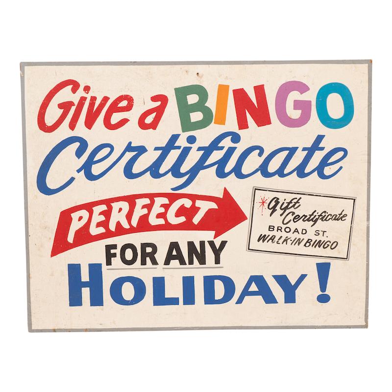 Benji Bingo Sign