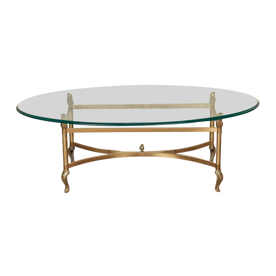 Carrera Brass Coffee Table