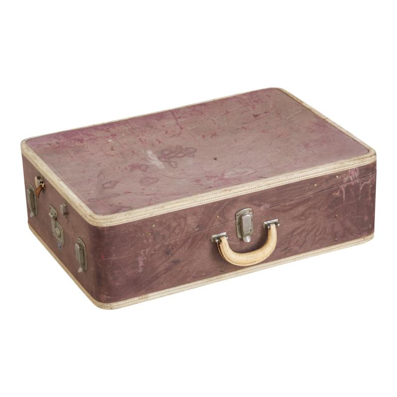 Plum Leather Suitcase