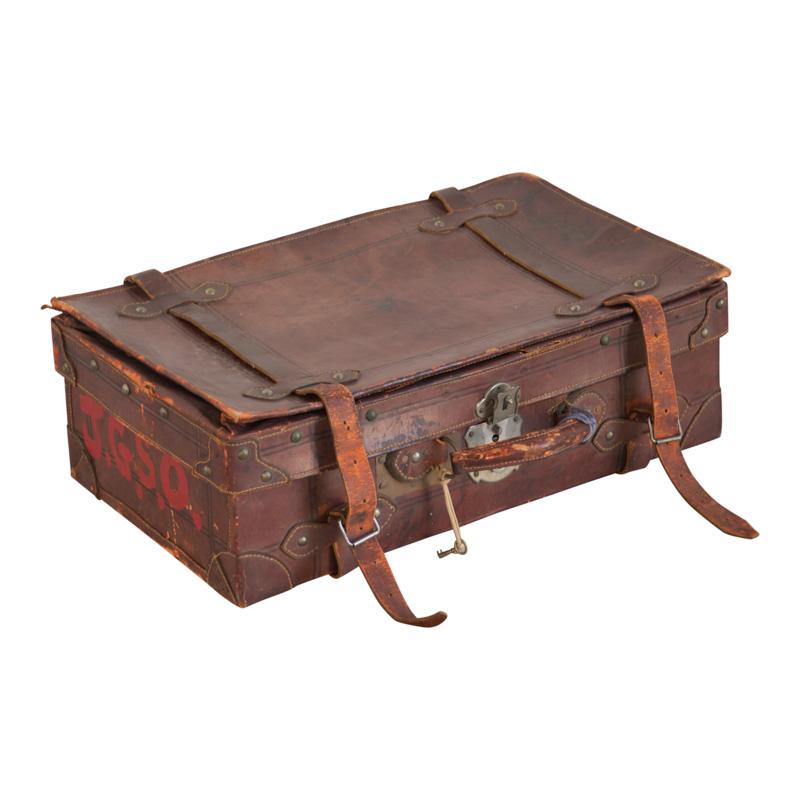 JG Leather Suitcase