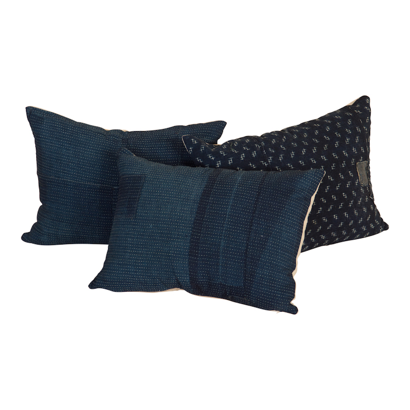 Caswell Indigo Pillows (set of 3)
