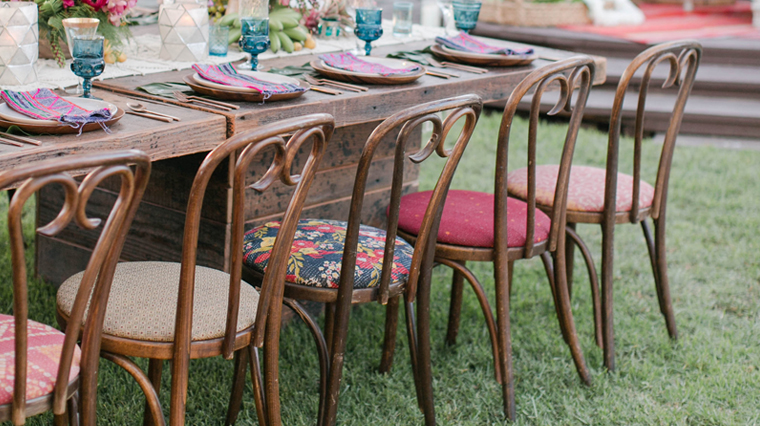 found rentals rent vintage furniture in california for weddings