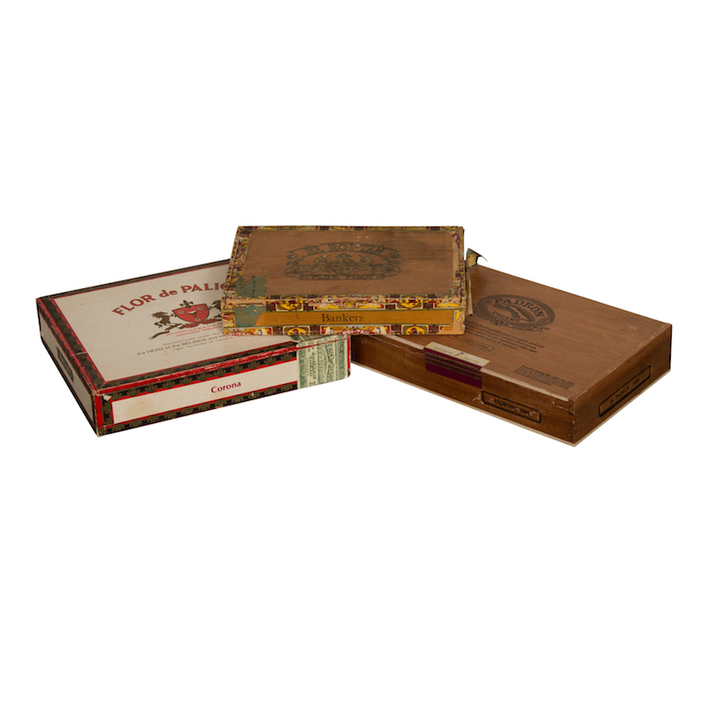 Grand Vintage Cigar Boxes (set of 3)
