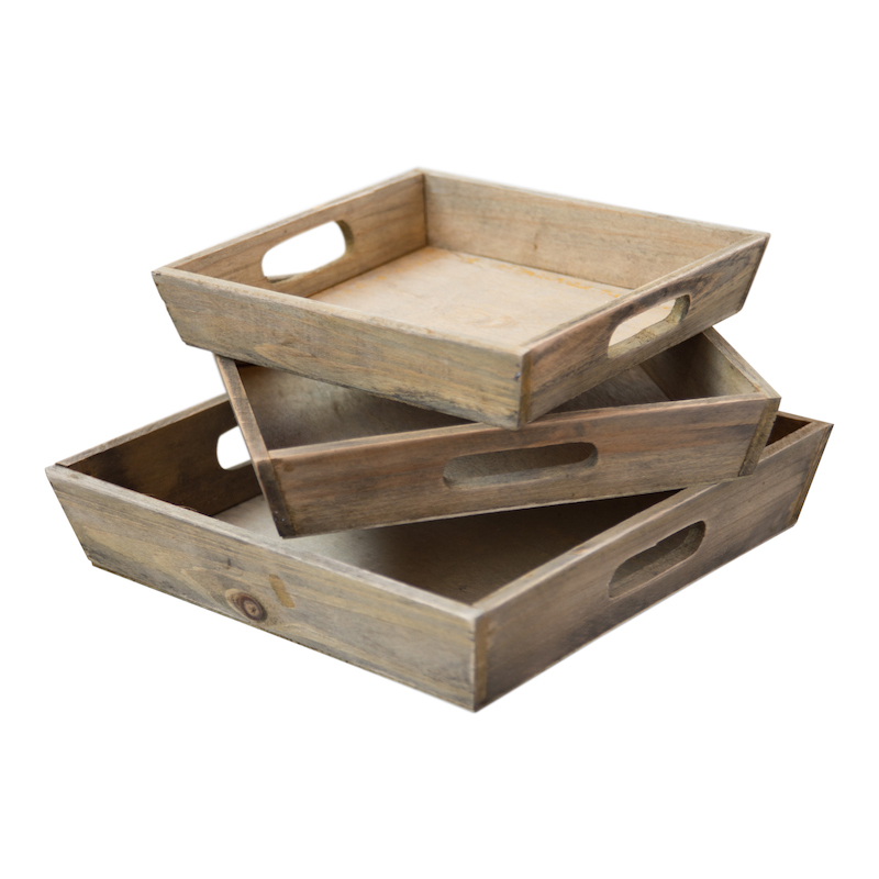 Cedar Trays (set of 3)