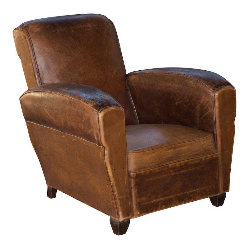 Archibald Leather Club Chair