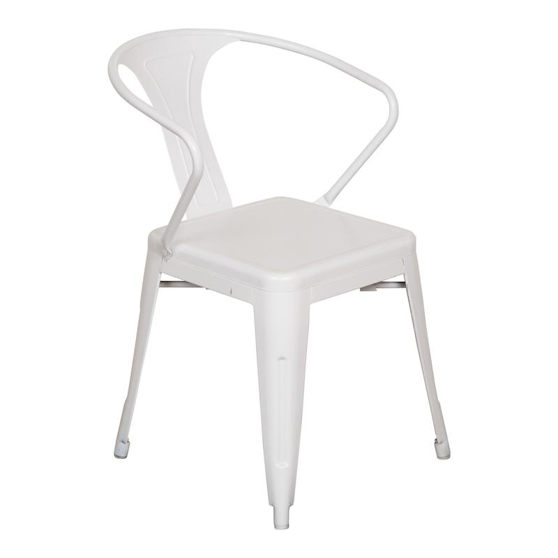 Weldon White Armchairs