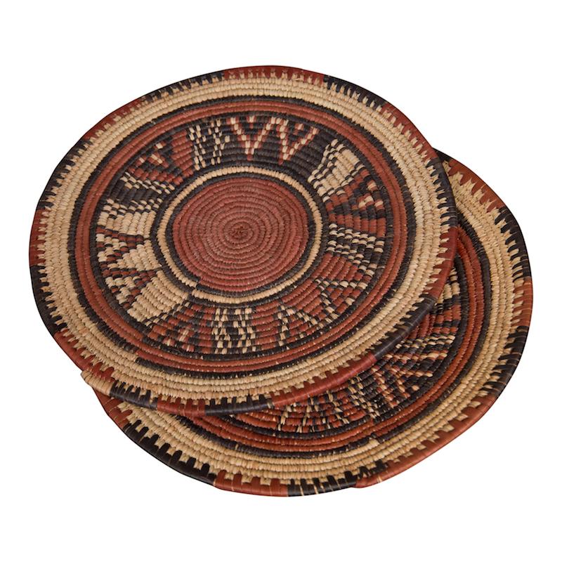 Cairo Flat Baskets (pair)