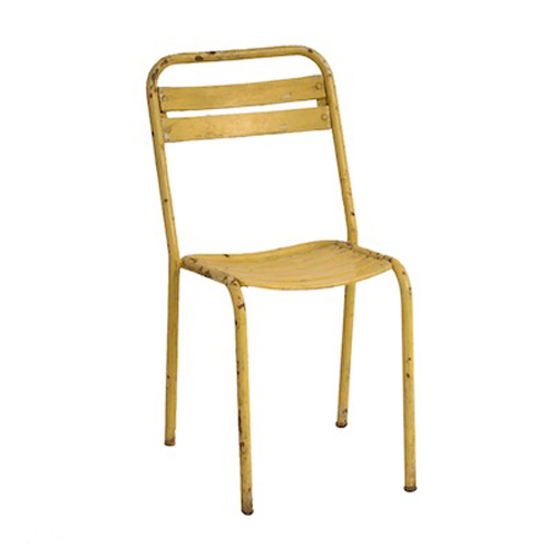 Darren Yellow Metal Chair