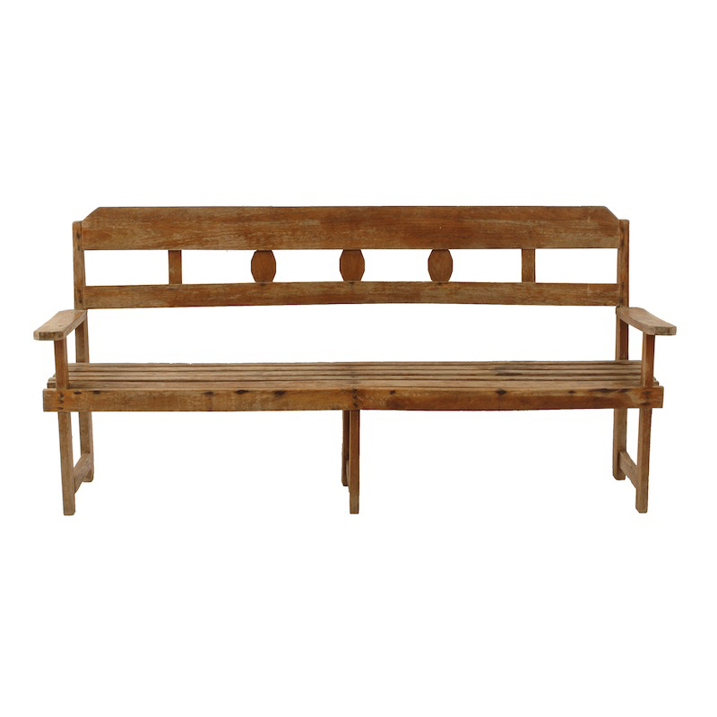 Downy Wooden Bench