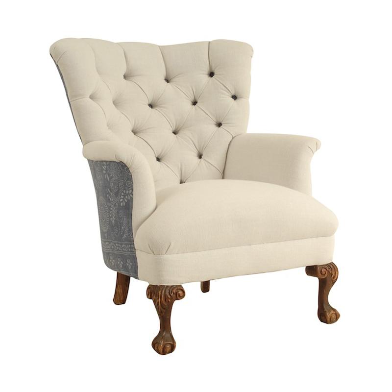 Maddie White and Indigo Chairs