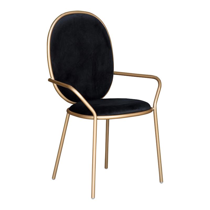 Bijou Black Armchairs
