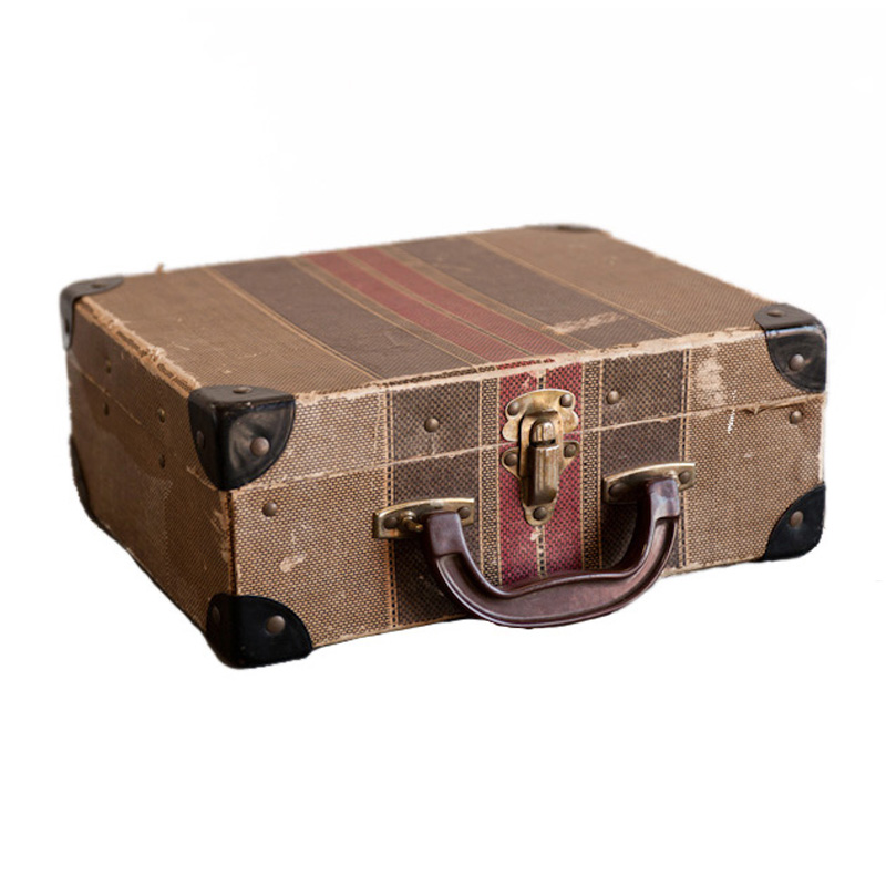 Wright Striped Suitcase