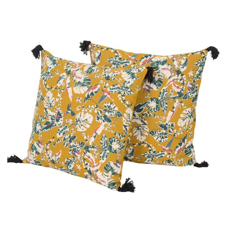 Samira Safran Pillows (pair)
