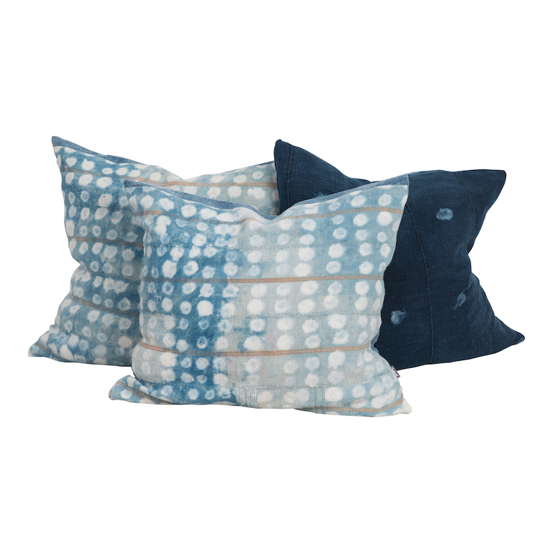 Dottie Indigo Pillows (set of 3)