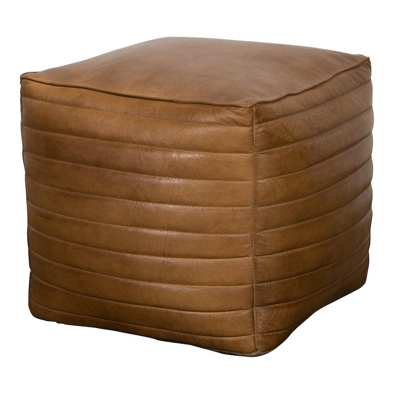 Romeo Square Leather Poufs